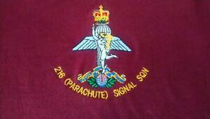 PARACHUTE SIGNAL SQN HOODIE BRITISH ARMY ROYAL CORPS OF SIGNALS 216