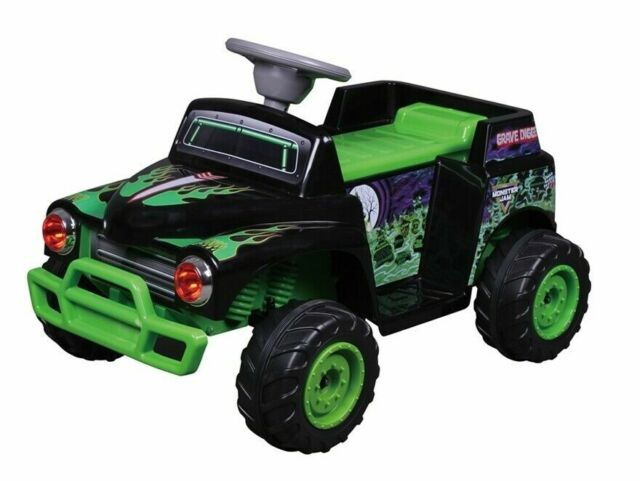 Kids Ride On Car Monster Jam Grave Digger Quads Electric ...