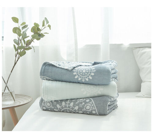 China Brand blanket cotton soft gauze blankets pure cotton bed cover sheet king
