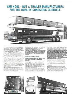 Details about VANHOOL COACH, BUS AND TRAILER SALES BROCHURE 1983