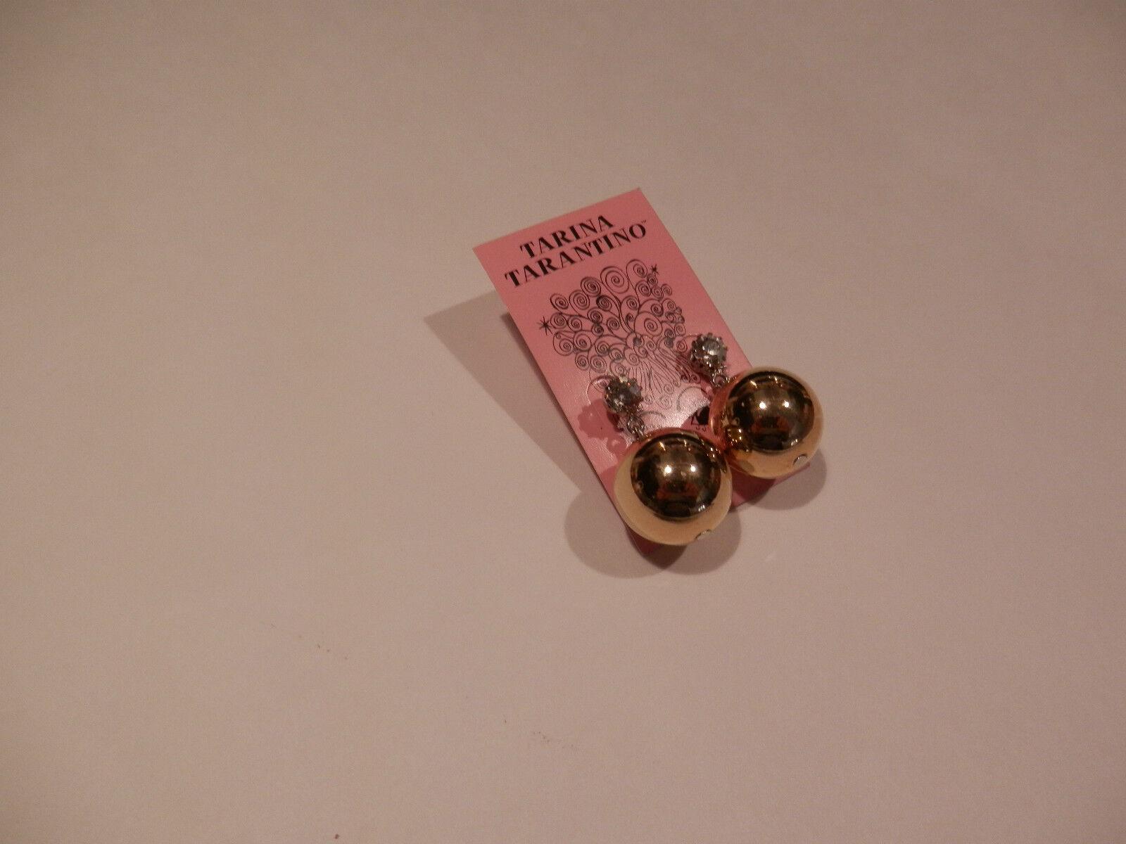 997361a84613 Gold Large 4 Ball 3 Crystal Tarina Tone Pierced Earrings Beadamp  j54ALq3R