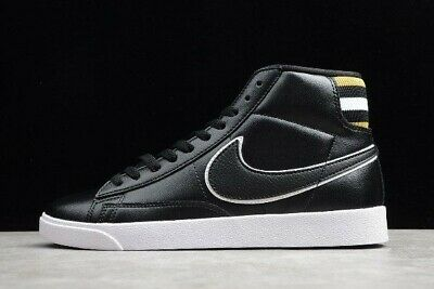 Size 12 Women's Nike Blazer Mid Premium PRM BlackWheat GoldWhite AV9375 012 | eBay