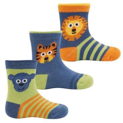 Zest Baby Boys Animal Themed Cotton Rich Socks