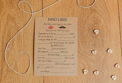 12 Personalised Wedding Guest Table Trivia Game Marriage, Civil Partnership