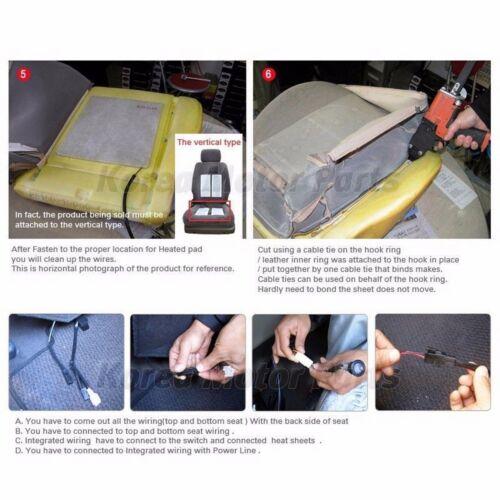 Heating Warmer 8Pads Universal Heated Pads Kit 2Seat 12V Heater Car Truck SUV