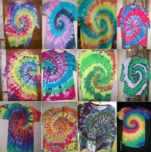 Details about ADULT Handmade tie dye shirt - TRADITIONAL - SWIRL / SPIRAL -  you choose colors!