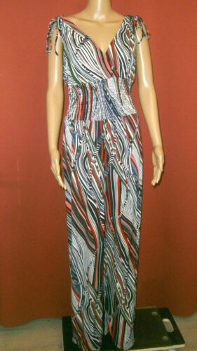 ☀ Jumpsuit Multicolore Rayures-Design 3 Couleurs Large Jambe Taille XL//XXL Neuf ☀