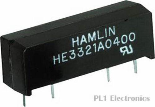 500 mA 200 500 ohm HE3300 Series HAMLIN    HE3321A1200    Reed Relay 12 VDC