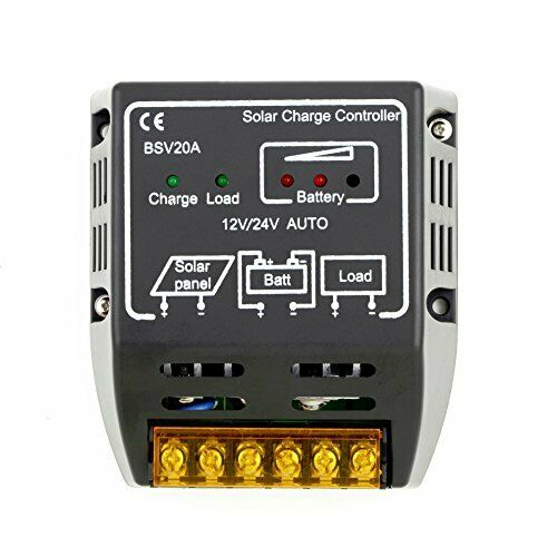 VizGiz BSV20A 20A Solar Charge Controller Charger 12V 24V AUTO