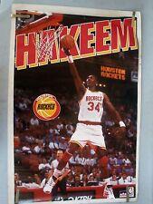 RARE HAKEEM OLAJUWON RICKETS 1994 VINTAGE ORIGINAL NBA STARLINE POSTER