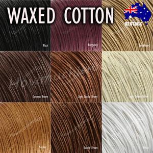 5m x1mm Waxed Cotton Thread Cord Beading Macrame String Bracelet Necklace DIY