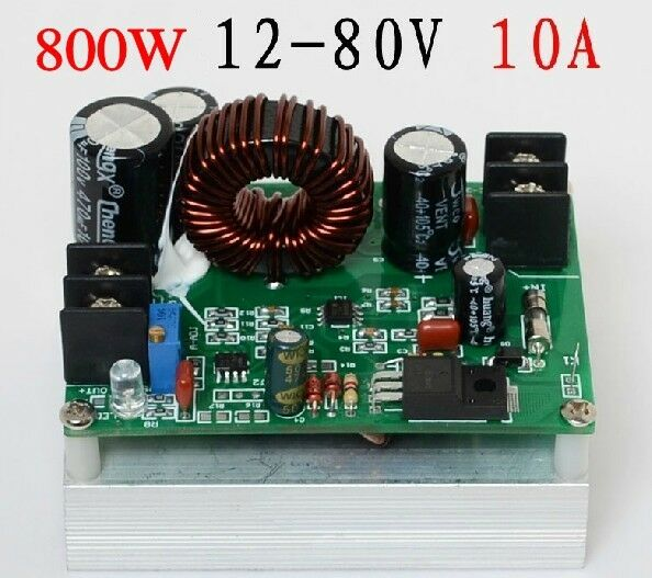 800W Boost DC-DC Converter Power Supply Step-up Module 12V-80V to 12-80V 24V 48v