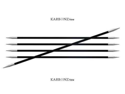 2.50 mm 15 cm 1.5 US 6 in Knitter/'s Pride :Karbonz Double Pointed Needles: