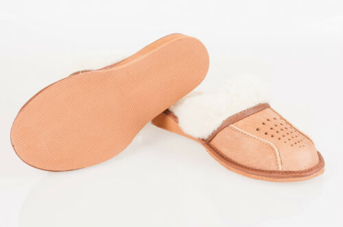 Women`s//Ladies Warm Slippers 100/% Natural Leather/&Sheepwool size:UK3,4,5,6,7,8