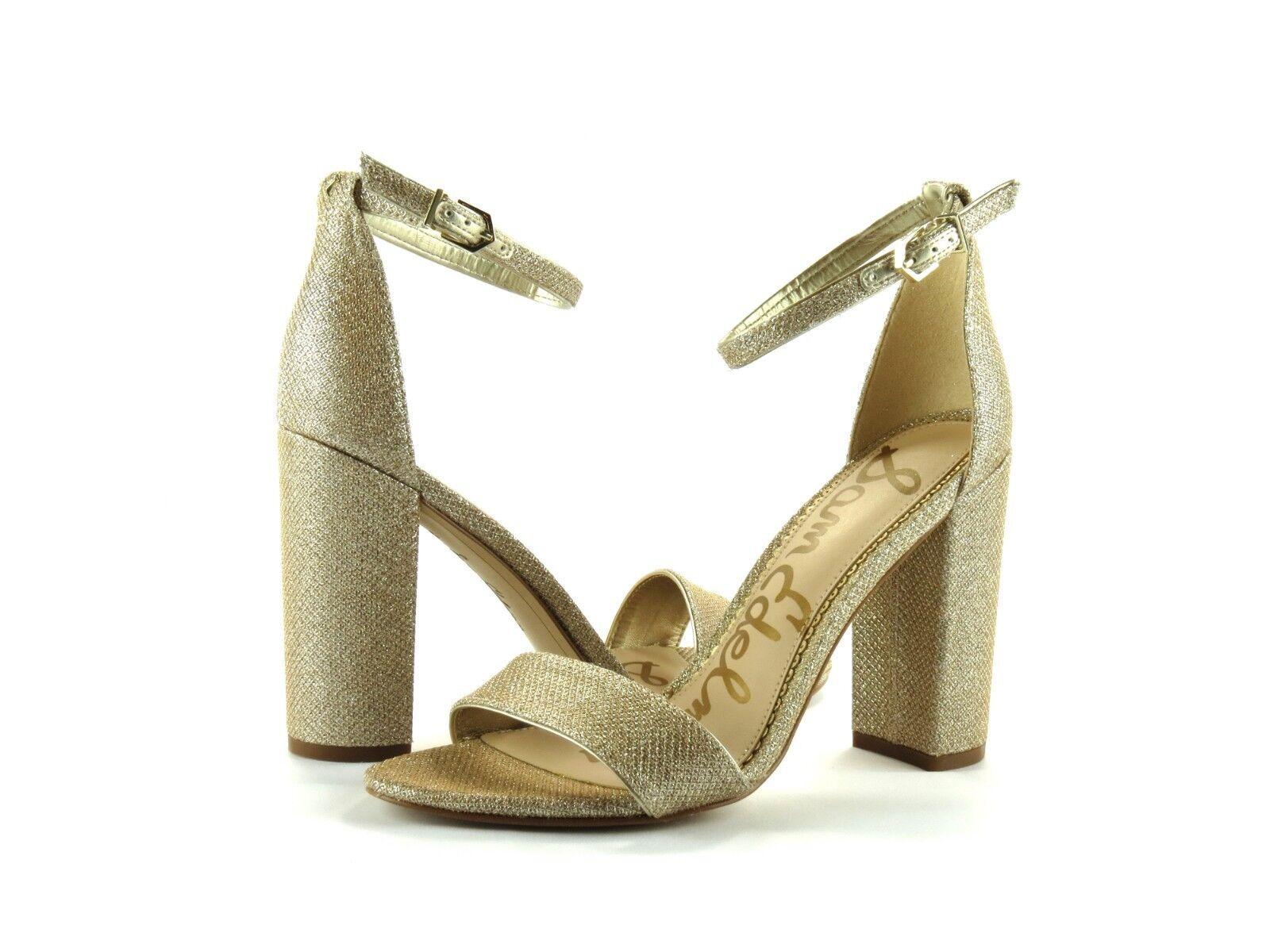 Sam Edelman Yaro Light Gold Mesh Ankle Strap Open Größe Toe Sandale Heel NEW Größe Open 8 af1022