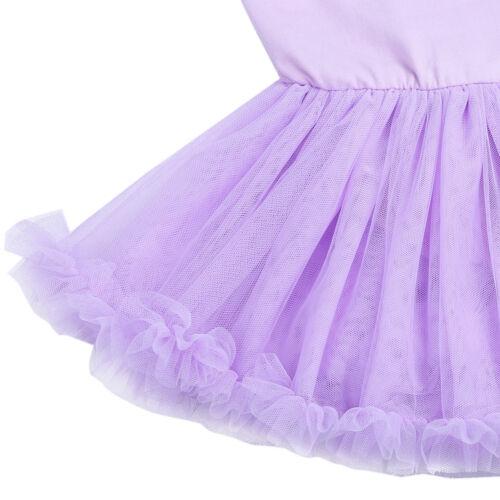 Kids Girls Ballet Dress Ballerina Dancewear Leotard Tutu Skirt Dancing Costumes
