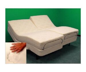 ADJUSTABLE BED LEGGETT & PLATT 10 GEL CLOUD MEMORY FOAM & TEMPURPEDIC PILLOW