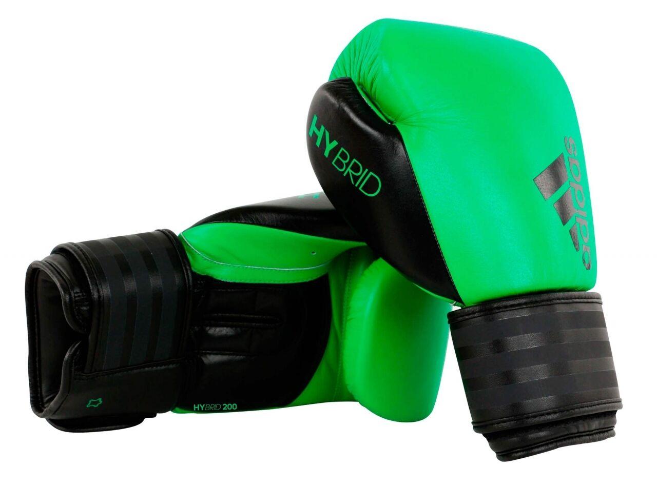 Adidas- Boxhandschuhe Hybrid 200 solar lime schwarz. 10oz 10oz 10oz 12oz. Technik & Speed 73ca16