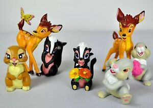 Disney-Bambi-amp-Friends-Set-Of-7-3-034-Birthday-Cake-Topper-Figurines-Toy-Set