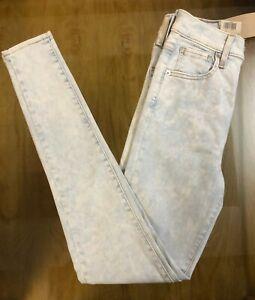 Levi-039-s-710-Super-Skinny-Jeans-Damen-Mid-Rise-Slim-ueber-Huefte-und-Oberschenkel
