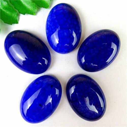 Can Multiple Choice Blue Dragon Veins Agate Oval Cab Cabochon 25*18*7mm B9779