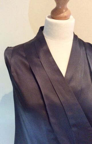 Grey Birger 14 taglia Et Mikkelsen Cotton 40 Uk Silk Mix Eur Wrap Day Abito zwqpdqT