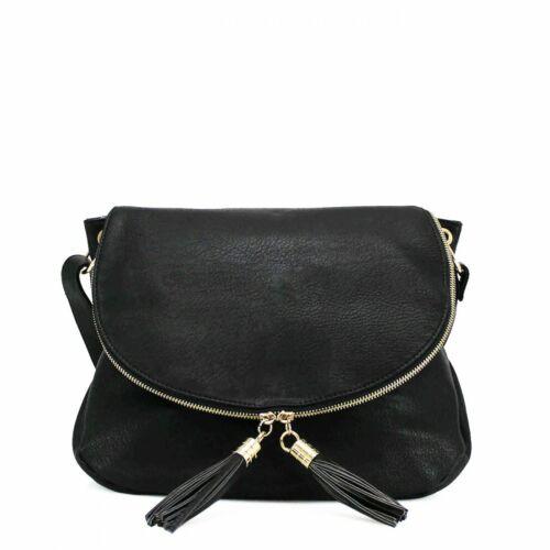 Fashion Ladies Tassel Zip Cross Body Messenger Bag Women Shoulder Tote Satchel H