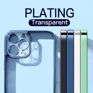 Funda Gel TPU Silicona Para iPhone 12 11 Pro Max mini 6S 8 7 XS X XR Plating de