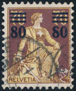 SCHWEIZ-1915-MiNr-127-I-gestempelt-gepr-Abt-Mi-450