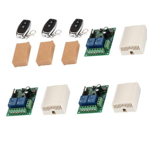 Wireless Remote Control Switch AC 110V 220V 2CH Relay Receiver /& RF Transmitter