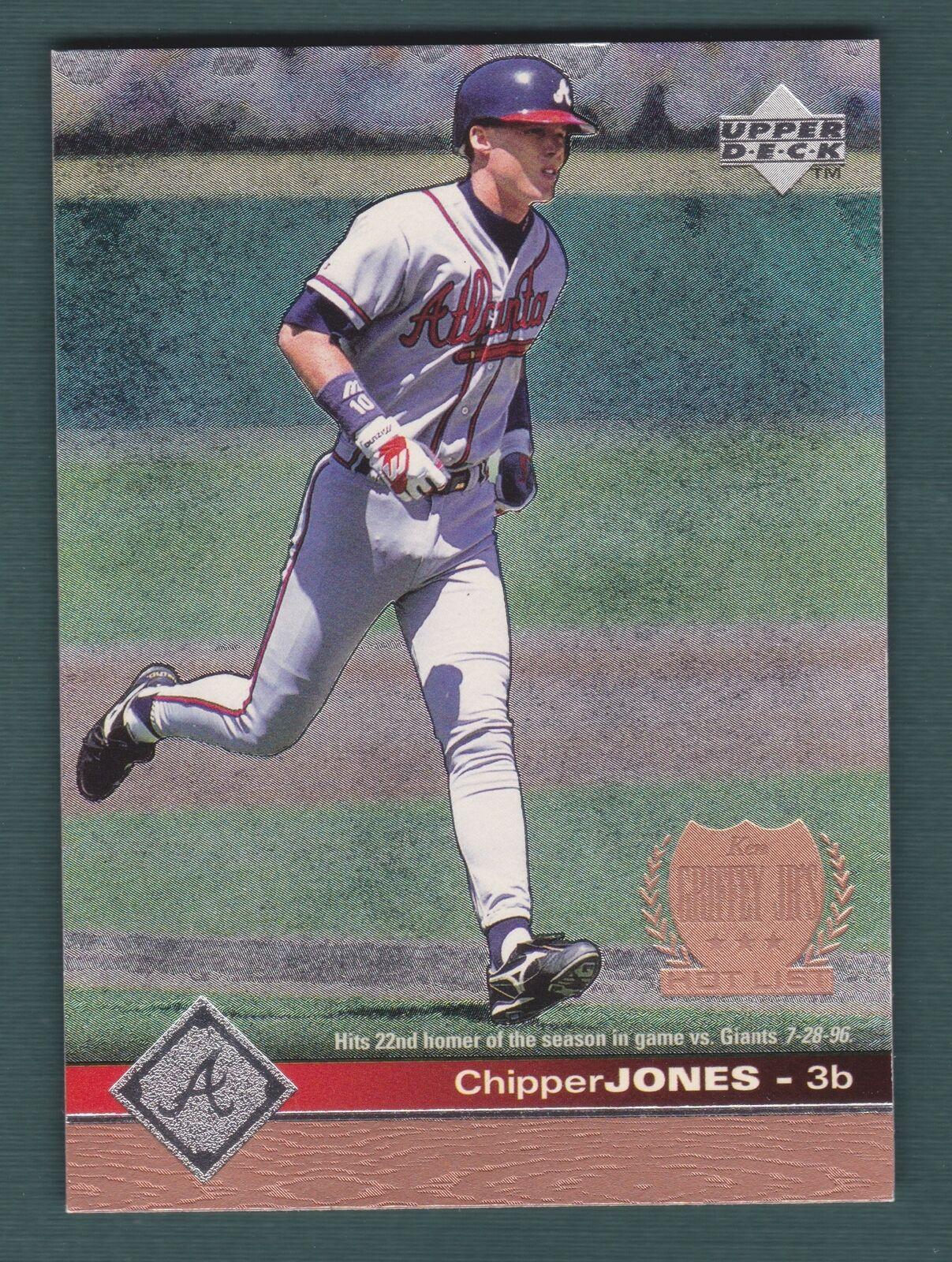 1998 Upper Deck Griffey Jrs Hot List Chipper Jones Baseball
