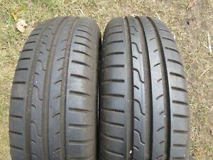 2-x-165-65-r15-81-H-Dunlop-Sport-Blu-Response-Pneus-D-039-ete-7-mm-TOP