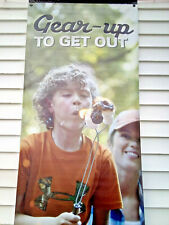 Gear Up To Get Out Camping Vinyl Outdoor Sign Store Banner Commercial 30 X 82