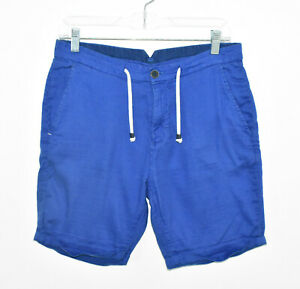 Zara-Man-Shorts-Men-039-s-Size-Small-Blue-Cuffed-Drawstring