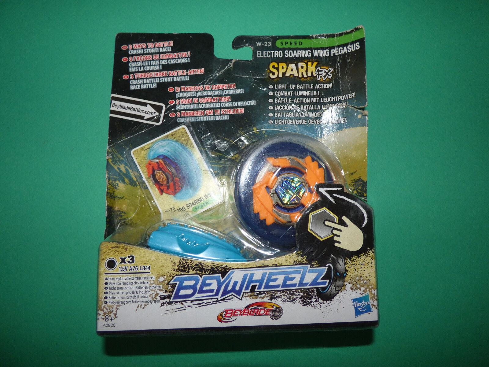 Beyblade Beywheelz W-23 Electro Soaring Wing Pegasus Battler New Spark FX