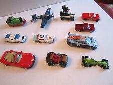 LOT OF 11 DIECAST CARS & A PLANE - ERTL - CORGI - MAJORETTE & MORE -SEE LIST-RRR
