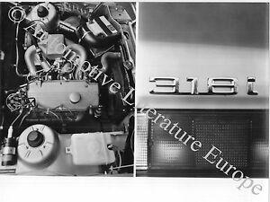 Brillant 1983 Bmw 3er E30 318i Einspritzmotor Pressebild Press Picture Werkfoto Original Automobilia Pressemappen & Cds