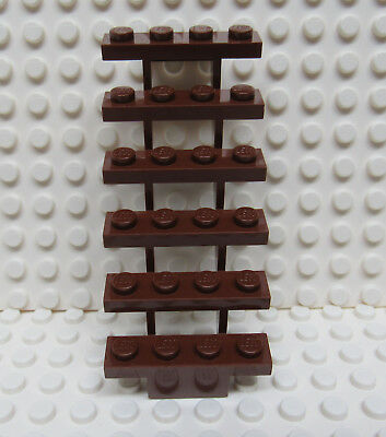LEGO Stairs 7x4x6 straight open Red//brown NEW