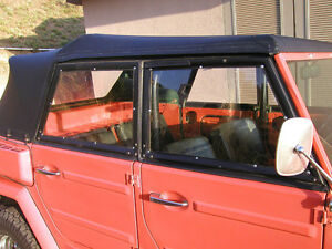 """VW Thing type 181 .060/"""" PC window side curtains 4x Off road dirt T-181 Type 181"""