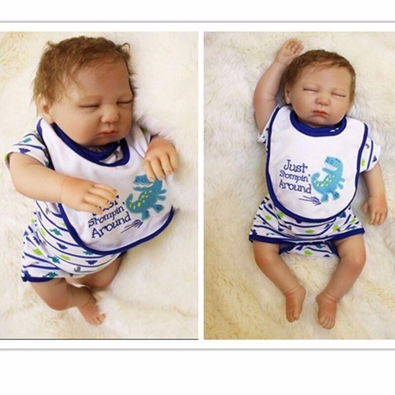 20  vinile morbido silicone RINATO Baby realistici Girl Boy Doll neonato sonno regali