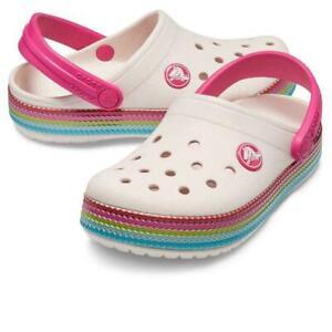 Crocs-Crocband-Paillettes-Fascia-Intasa-Baby-Rosa-ragazze-RARE-taglia-UK-4