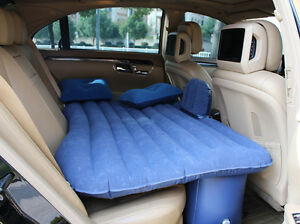 Image Is Loading Blue Car Back Seat Inflatable Air Mattress Bed
