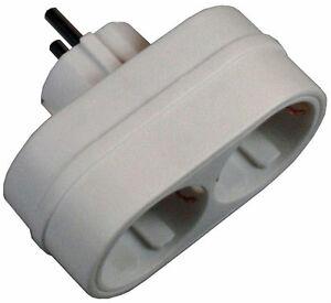 EF-Steckdosenleiste-fuer-LED-Lichterkette-1x-2fach-Steckdosenverteiler-Schuko-Z