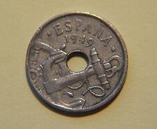 1949, 50 Centimos , Spain, Espana Coin