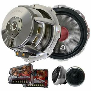 """(Pair) Massive Audio High Fidelity Carbon 6 Component 6.5"""" inch Speakers"""