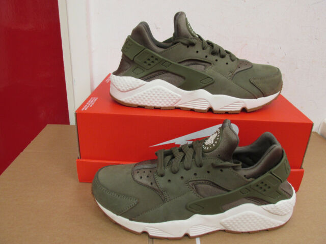 Nike Air Huarache Medium Olive Green Brown Sail Gum 318429 201 New Size 8-13