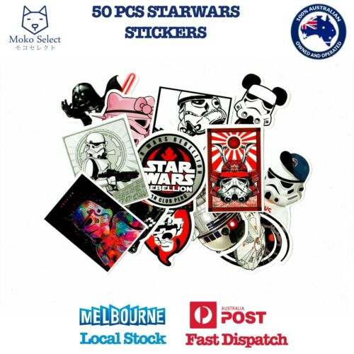50 PCS STARWAR Stickers Decal for Laptop Cars Phones arty 2019 NEW DESIGN