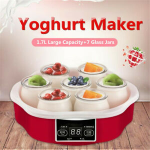 Automatico-Smart-Touch-Screen-Controllo-1-7L-Yogurt-Maker-W-Timer-Vetro-Vasetti