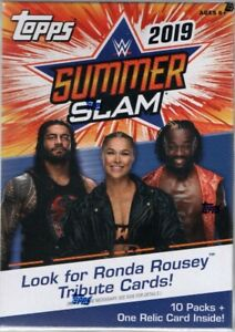 2019-Topps-WWE-Summer-Slam-Wrestling-Trading-Cards-Retail-Blaster-Box-71-Cards