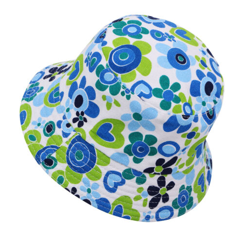 Summer Kids Boys Girls Toddler Beach Sun Bucket Hats Foldable Headwear